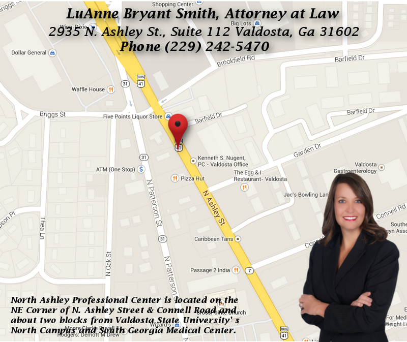 LuAnne-Smith_Workers-Compensation-Attorney-Valdosta-Ga_Law-Office_Local-Map